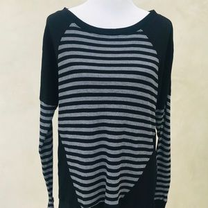 Micheal Stars Thermal Long Sleeve Stripe Top NWOT
